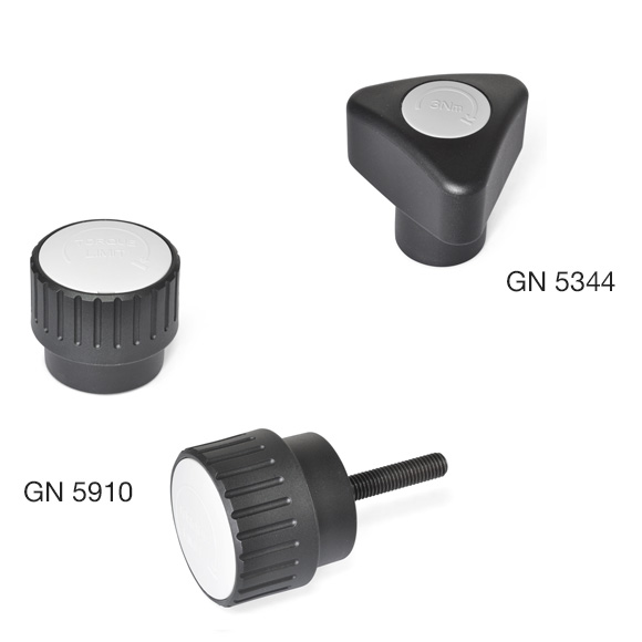 Torque Limiting Knobs GN 5344 and GN 5910