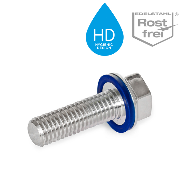 GN 1581 Stainless Steel-Screws in Hygienic Design