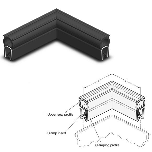 Edge protection seal profile corners GN 2181