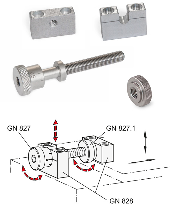 Perfectly positioned with stainless steel adjusting screws