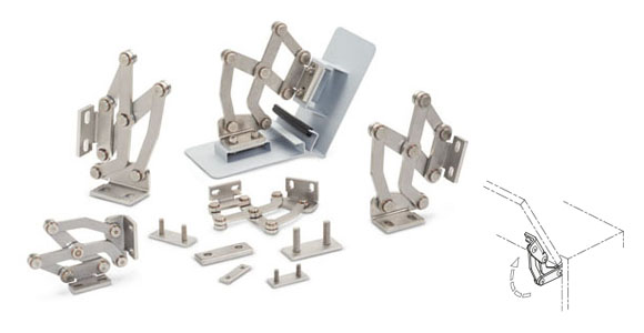 GN 7237 Stainless Steel Multiple-Joint Hinges