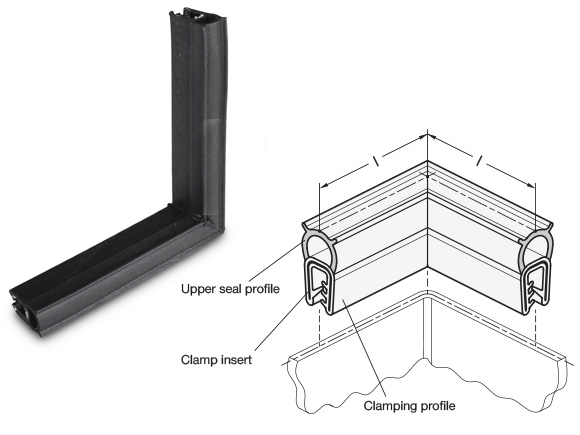 Edge Protection Seal Profile Corners GN 2181